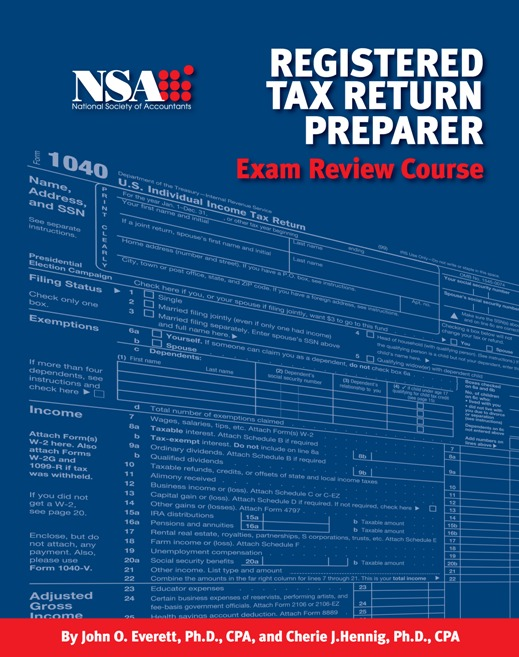 registered tax return preparer exam review course